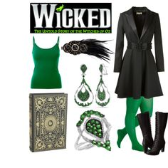 Elphaba 1 - Wicked by b-scottyer on Polyvore featuring Yves Saint Laurent, Falke, Timberland, Allurez, ASOS and Pier 1 Imports