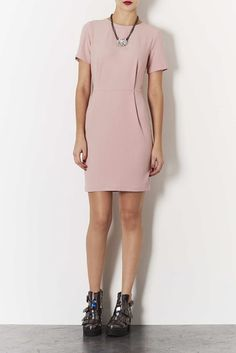 A gorgeous nude shift dress  http://www.iamintothis.com/2013/10/ready-to-see-whats-latest-on-high-street.html