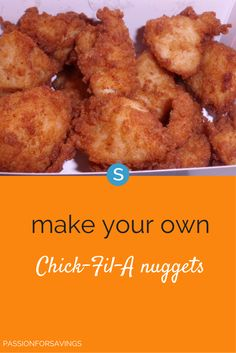 Here's a delicious copycat @ChickfilA chicken nugget recipe. Make these at home in just a few easy steps http://www.simplemost.com/?p=18112?utm_campaign=social-account&utm_source=pinterest&utm_medium=organic&utm_content=pin-description