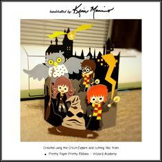 Harry Potter card made using the Cricut Explore and SVG cutting files from Pretty Paper, Pretty Ribbon.