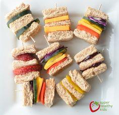 Lunch Box Idea: Mini Rainbow Sandwiches   Healthy Ideas for Kids