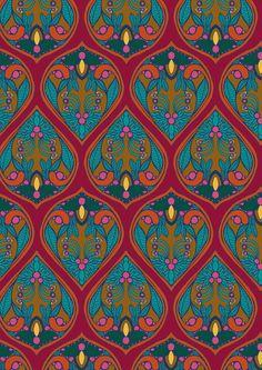 Texitura 46 - Marina Molares red pink aqua teal turquoise