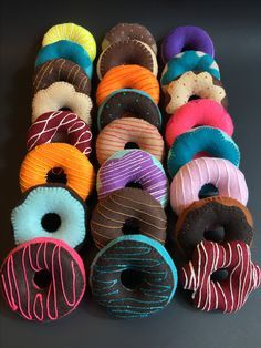 Felt donuts! Awesome addition to your Pretend Donut Shop! Variety or flavors at FeltSewReal@aol.com