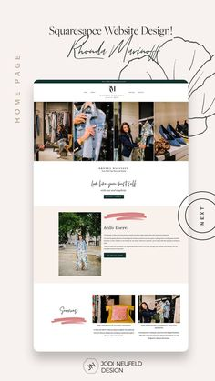 One of my services is to set up a premade Squarespace template and customize it for clients. For Rhonda Marinoff, a New York City personal stylist, I worked with her brand designer and a GoLive template to provide her with a more customized website. Website Design Inspiration, Website Design Layout, Website Designs, Web Layout, Personal Website Design, Website Ideas, Design Web, Web Design Projects, Blog Design