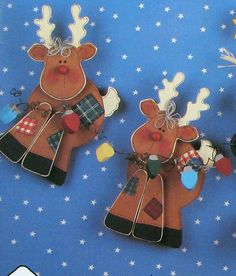 Christmas Wood Craft Pattern Reindeer by SouthcastleVintage