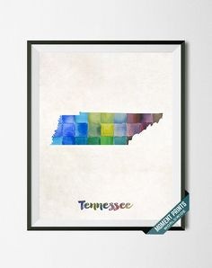 #Tennessee #Nashville #Knoxville #Memphis #Map #Print #Watercolor #Painting #Gift #HomeTown #Student #States #Artwork #Wall #Art #USA #Poster #Gift #UnitedStates #Dorm #Decor #LivingRoom #BedRoom #WallArt #Decoration #Home #School #Town #Watercolour