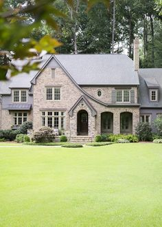 Black And Gray Exterior House In Lakeside Ride Down My Street On Pinterest Tudor Colonial And Black Shutters
