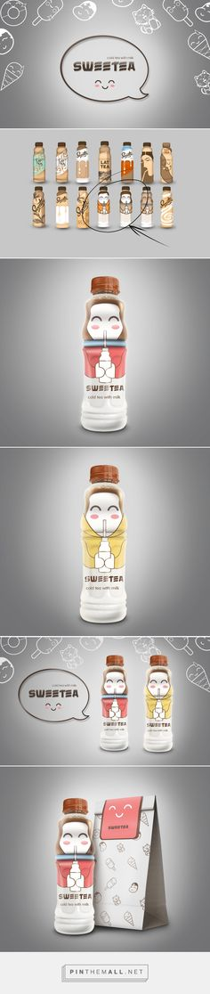 Graphic design, illustration and packaging for Sweetea on Behance by Togzhan Slyamgaliyeva Almaty, Kazakhstan curated by Packaging Diva PD. Sweet tea with milk for the packaging smile file : )