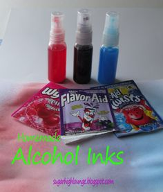Are you kidding me?  I have to try this just \'cuz!    Homemade Alcohol Inks using rubbing alcohol, and koolaid