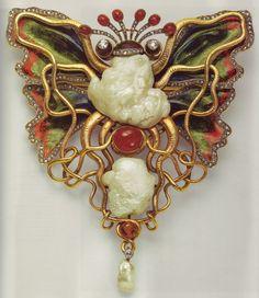 Wilhelm Lucas von Cranach - Octopus and Butterfly 1900 Brooch