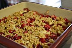 Cranberry Casserole (like a cranberry and apple crisp)