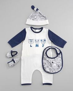 Four-Piece Gift Playsuit by Little Marc Jacobs at Bergdorf Goodman.