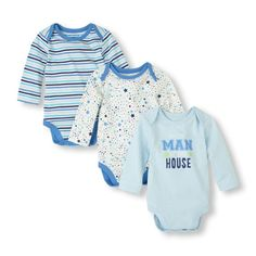 man of the house bodysuit 3-pack