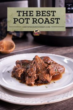 Make classic pot roast in an Instant Pot and enjoy a hearty, comforting family meal in a fraction of the time it takes to traditionally cook a roast in a Dutch oven. Best Roast Beef Recipe, Best Pot Roast, Roast Beef Recipes, Beef Recipes For Dinner, Beef Appetizers, Potted Beef Recipe, Beef Stews, Cooking A Roast, Good Roasts