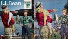 L.L.Bean Summer 2012 and Spring 1956 Catalog Covers