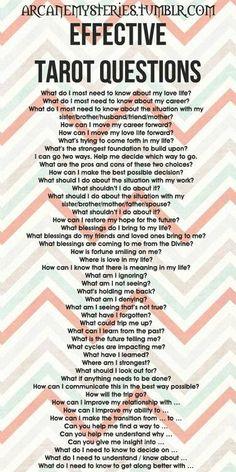 Tarot Questions