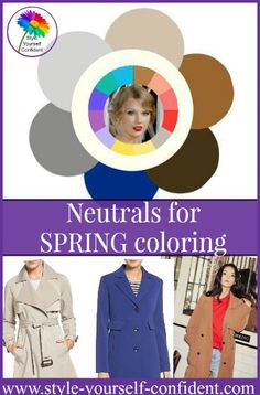 Identify the best neutrals for your Spring coloring to form a backdrop for your vibrant brights