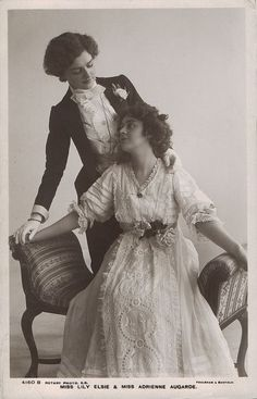 Photography Discover Miss Lily Elsie and Adrienne Augarde circa Queer vintage photos on this link. Lgbt History Women In History History Images Lesbian Wedding Lesbian Love Lesbian Couples Lilie Elsie Vintage Lesbian Vintage Couples