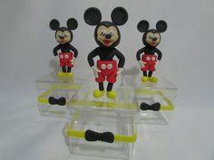 Caixinha de acrílico Mickey em biscuit
