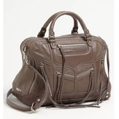 """Rebecca minkoff JEALOUS satchel Practically brand , only used once. Real leather. Comes with dust bag. Approximate dimensions 12""""X10""""X5"""". Color is soft grey/lavender. Last picture of the actual bag. Rebecca Minkoff Bags Satchels"""