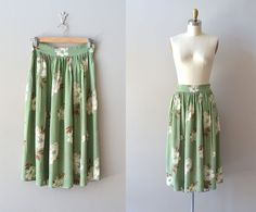 1940s skirt / vintage 40's skirt / Cocoa Bean skirt ~