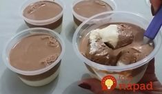 Domáci Milky Way puding do pohárov: Nezáleží, čí máte 5 alebo 55, tento dezert si zamiluje každý! Crepes, Food And Drink, Ice Cream, Pudding, Sweets, Bread, Candy, Cooking, Desserts