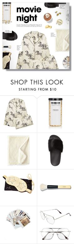 """BRING THE POPCORN: MOVIE NIGHT"" by larissa-takahassi ❤ liked on Polyvore featuring Olivia von Halle, FREDS at Barneys New York, Squarefeathers, Givenchy, Morgan Lane, Bobbi Brown Cosmetics, Chronicle Books, BP., Urbanears and movieNight"
