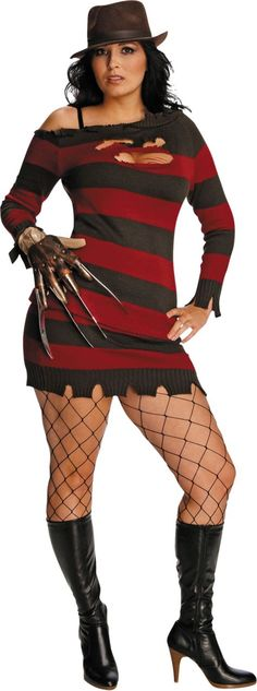 Sexy Plus Size Ms. Krueger Costume for Adults - Party City