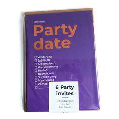 6 x PARTY DATES | HAPPY INVITES | Happy Whatever