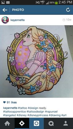 This would make a awesome tangled tattoo!