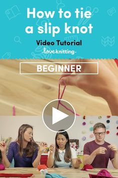 Learn how to tie a slip knot with this easy video tutorial! Find more beginner knitting tutorials at LoveKnitting.com