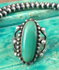 Harvey Era Trading Post Sterling and Turquoise by MudPonyTraders