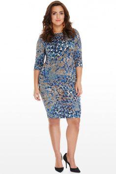 Plus Size Zarah Animal Bodycon Dress | Fashion To Figure $39.90