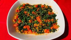 Abbey's Kitchen :: Warm Kale, Carrot and Quinoa Salad