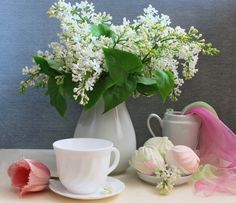 Image detail for -... , romantic, spring, still life, tulip, tulips, vase, white, with love