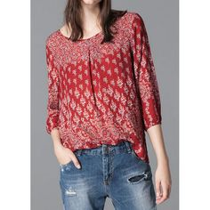 Great Bohemian-Style Paisley Blouse...Perfect with Jeans this Fall! | TrendsGal.com