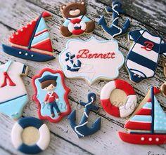 Nautical Baby Set Cookies