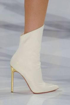 Christian Louboutin OFF!>> shoes / Christian Louboutin for Alexandre Vauthier Fall 2012 Heeled Boots, Bootie Boots, Shoe Boots, Ankle Boots, Women's Booties, Fringe Booties, Hot Shoes, Black Shoes, Shoes Heels