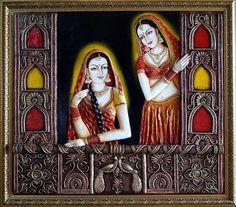 Need rajasthani painting Sketches Rajasthani Painting, Art Painting, Mural Painting, Female Art Painting, Mural Art Design, Clay Wall Art, Mural Art, Painting, Rajasthani Art