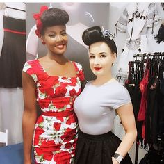Happy Birthday to one of our favorite Modern pin-ups, Burlesque Icon and Designer @ditavonteese seen here with one of our model @theblackpinup wearing our Cara White and Red Sorrento Pencil dress.🌹👑✨🍾🎂💋 Available in UK sizes 8 through 18. (US sizes 4 through 14) #theprettydresscompany #theprettydres #DitaVonTeese #Birthdaygirl #Angeliquenoire #1950sfashion #retrofashion #ownwhoyouare