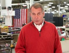Idiot John Boehner Humiliates Himself In Factory With Claim Repealing Obamacare Creates Jobs.  VOTE the LYING the GOP OUT in NOV!