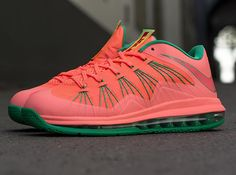 watermelon bright mango lebron 10 low 2 Bright Mango Nike LeBron X Low