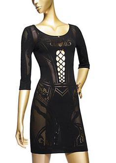 Versace - Tattoo Effect Lace Nightdress