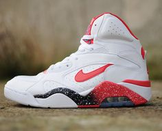 Nike Air Force 180 Mid-White-Hyper Red-Photo Blue #sneakers #kicks