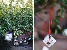 hanging wedding favors