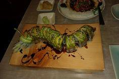 Dragon sushi at Isan, Bangkok, Thailand. Incrediiiible sushi