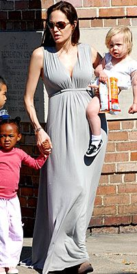 Angelina Jolie's Maternity Style - March 16 from #InStyle