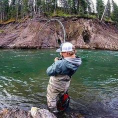 """@fishingguides - @bluehalogear - Folks, don't try this at home, but to show how tough these 3 weights are, here is@backcountry_poolz fighting a 30"""" bull trout on a small 3 weight designed for dry fly fishing in small streams. Just goes to show if you accidentally hookup with a big fish, you are still in the game. . ===================================== Follow @repyourwater @campinghiking @fishingguides @flyfishing.yoda @fish.forlife @trucks.truckster =========================..."""