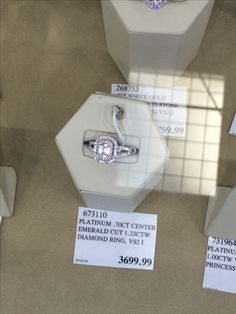 Affordable Emerald Cut Engagement Ring From Costco
