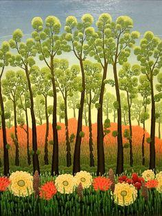 Ivan Rabuzin - Big forest, 1966 (detail)